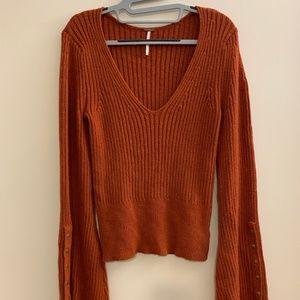 Free People Viola Bell Sleeve Sweater